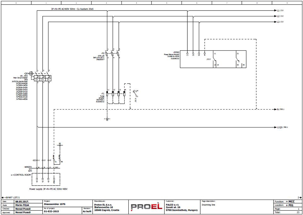 we can also do the designing in cooperation with our partners, certified electrical  engineers and hence we provide legally stipulated documentation in